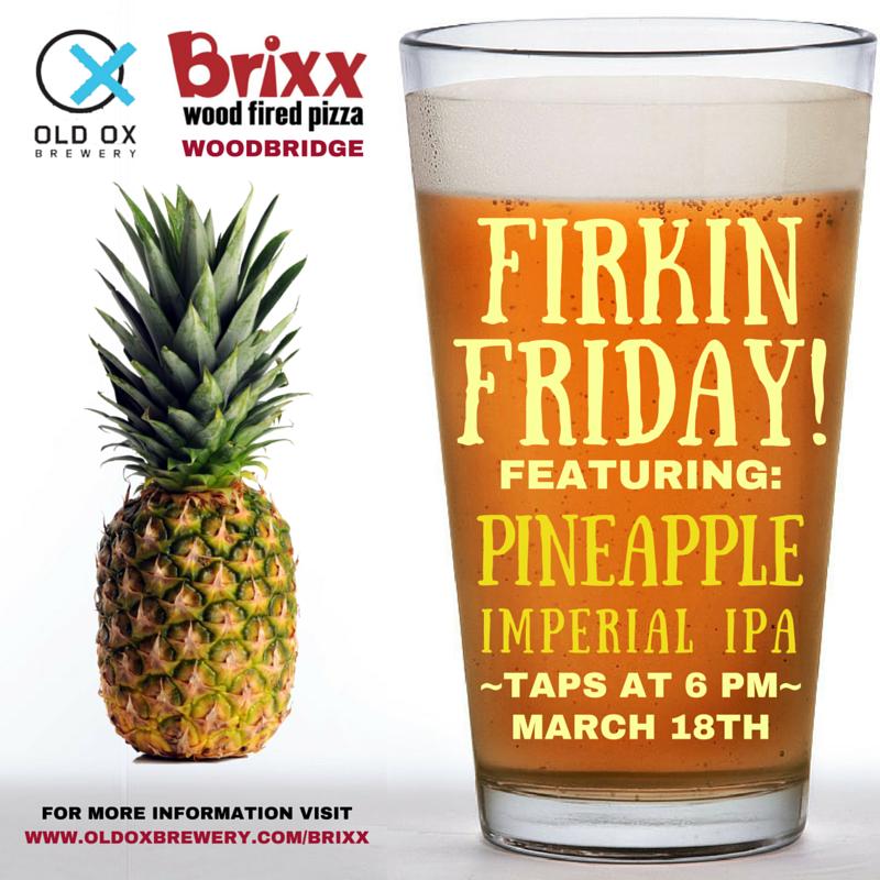Brixx Firkin Friday Old Ox Brewery