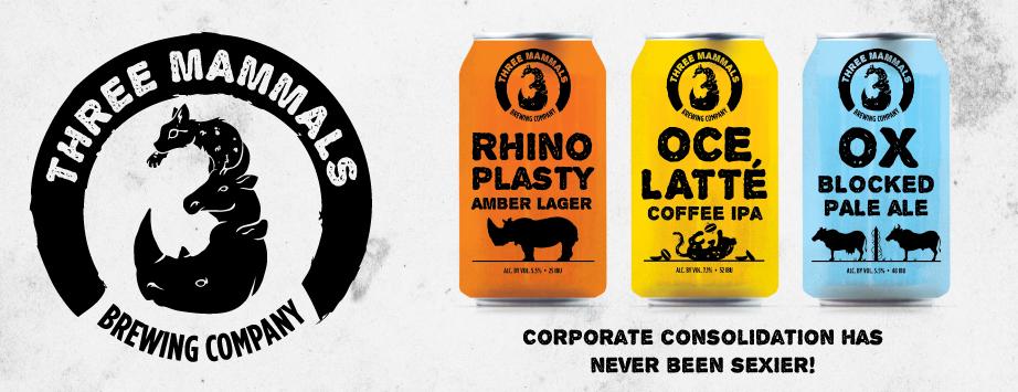 Three Mammals Brewing Company Beer